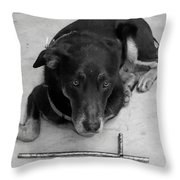 He Gets It In Black And White Throw Pillow