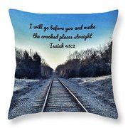 He Goes Before Us Throw Pillow