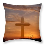 A Cross The Universe Throw Pillow