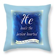 He Heals  Throw Pillow