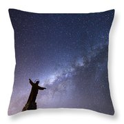 He Held The Stars In The Palm Of His Hand Throw Pillow
