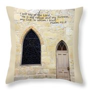He Is My Refuge Throw Pillow