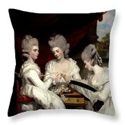 he Ladies Waldegrave Throw Pillow