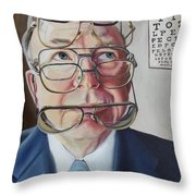 He Lost His Focus After Retirement Throw Pillow