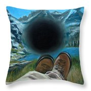 He Lost His Perspective Throw Pillow