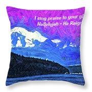 He Reigns Throw Pillow