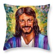 He Smiles Throw Pillow