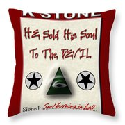 He Sold His Soul To The Devil Throw Pillow
