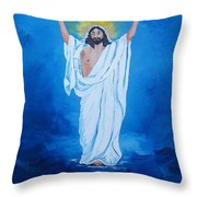 He Walked On Water Throw Pillow