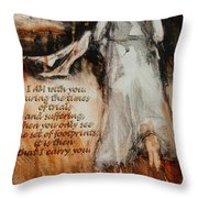 I Am With You - Footprints Throw Pillow