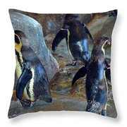 He Was Here Just A Minute Ago Throw Pillow