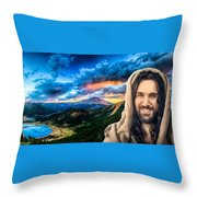 He Watches Over Me Throw Pillow