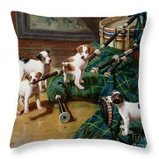 He Who Pays The Piper Calls The Tune Throw Pillow by John Hayes