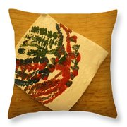 Head - Tile Throw Pillow