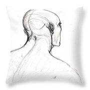 Head, Back View Throw Pillow
