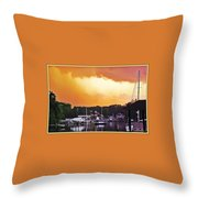 Head For Safety Throw Pillow