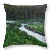 Head For The Forest Throw Pillow