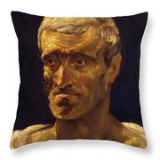Head Of A Shipwrecked Man Study For The Raft Of Medusa 1819 Throw Pillow