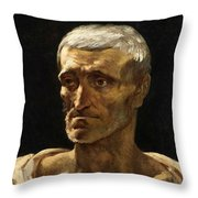 Head Of A Shipwrecked Man  Throw Pillow
