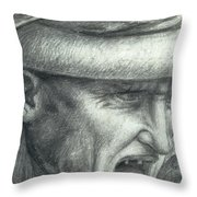 Head Of A Warrior, Copy Of A Detail From The Battle Of Anghiari Throw Pillow