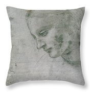 Head Of A Young Woman Or Head Of The Virgin Throw Pillow