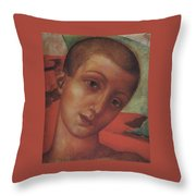 Head Of A Youth Kuzma Petrov-vodkin - 1910 Throw Pillow