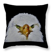 Head Of An Eagle  Throw Pillow