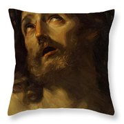 Head Of Christ Crowned With Thorns 1620 Throw Pillow