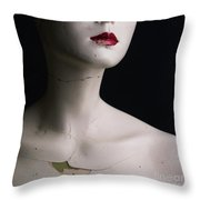 Head Of Dummy Throw Pillow