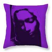 Head Of Mary Throw Pillow