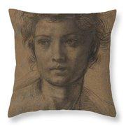Head Of Saint John The Baptist Throw Pillow