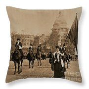 Head Of Washington D.c. Suffrage Parade Throw Pillow