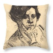 Head Of Woman (frauenkopf) Throw Pillow