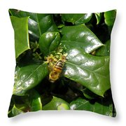 Head Over Heels In The Holly Throw Pillow