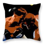Head To Head Throw Pillow
