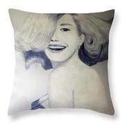 Head Turn Throw Pillow