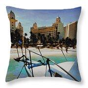 Headed For The Beach Throw Pillow