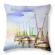 Headed To Work Throw Pillow