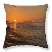 Heading Into The Sunset Throw Pillow