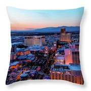 Heading North On The Strip Throw Pillow