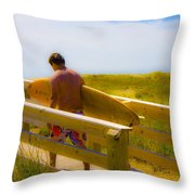 Heading Out Throw Pillow