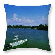Heading Out To Sea Throw Pillow