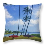 Heading Out To Surf Throw Pillow