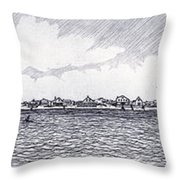 Heading Out To The West Bar Throw Pillow