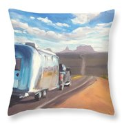 Heading South Towards Monument Valley Throw Pillow