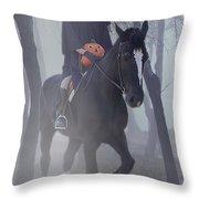 Headless Horseman Throw Pillow by Christine Till