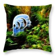 Heads - Fractal Throw Pillow