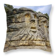 Heads Of Devils Throw Pillow