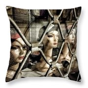 Heads' Prison Throw Pillow