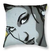 Headshot Of A Young Woman Throw Pillow